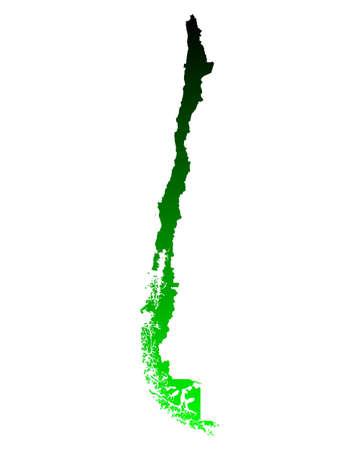 チリの地図 写真素材 - 55129937