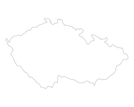 republic: Map of Czech Republic Illustration