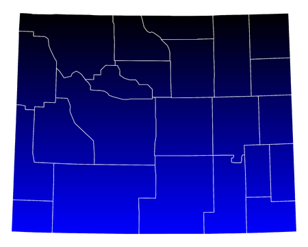 wyoming: Map of Wyoming