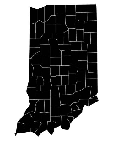 indiana: Map of Indiana