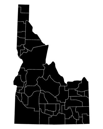 idaho: Map of Idaho Illustration