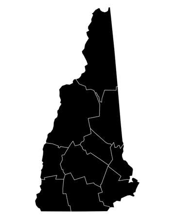 hampshire: Map of New Hampshire