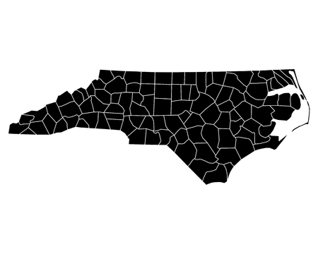 Map of North Carolina Illusztráció