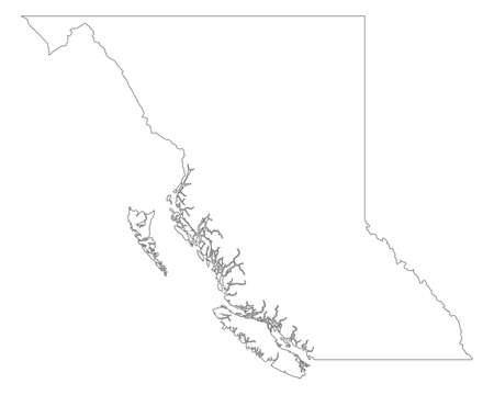 columbia: Map of British Columbia