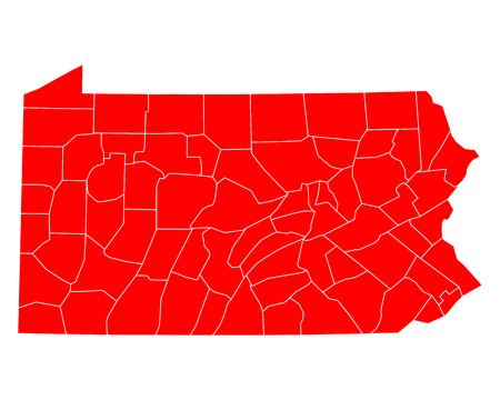 Kaart van Pennsylvania