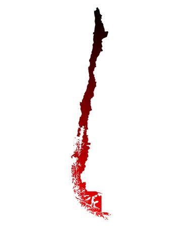 チリの地図 写真素材 - 59139962