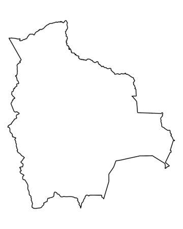 bolivia: Map of Bolivia Illustration