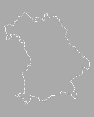 bavaria: Map of Bavaria Illustration