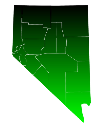 nevada: Map of Nevada