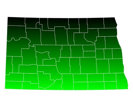 dakota: Map of North Dakota