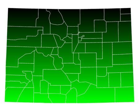 colorado: Map of Colorado Illustration