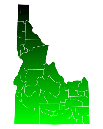 Map of Idaho Illustration