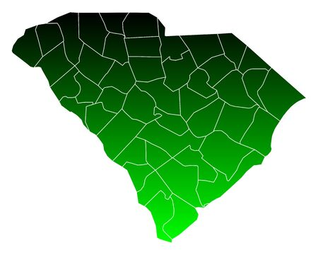 Map of South Carolina Illustration