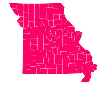 missouri: Map of Missouri Illustration
