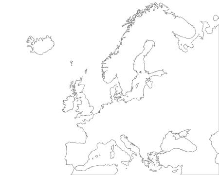 europe: Map of Europe Illustration