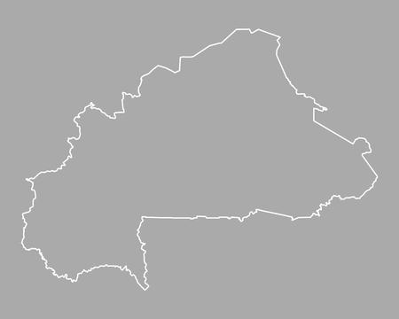 Map of Burkina Faso Illustration
