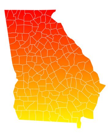 orange county: Map of Georgia
