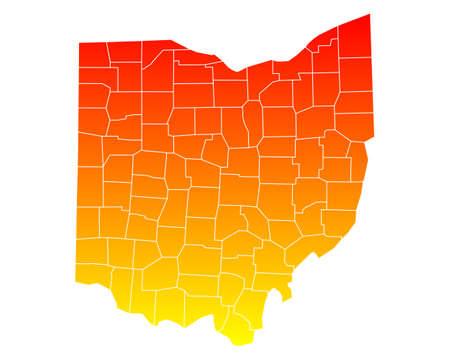 orange county: Map of Ohio