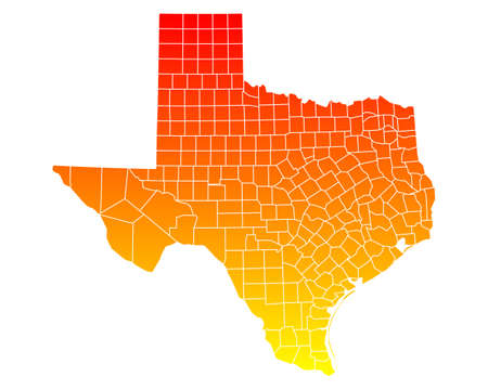 orange county: Map of Texas Illustration