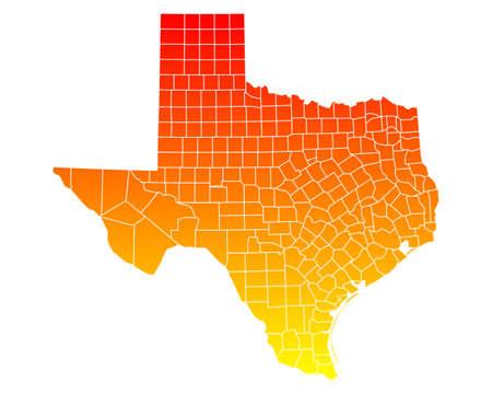 Map of Texas 向量圖像