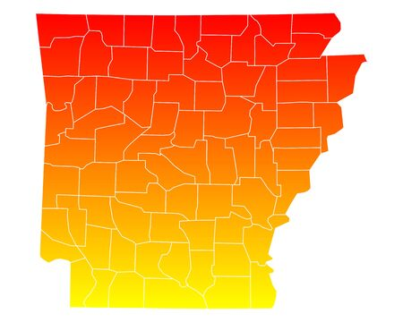 Map of Arkansas Illustration