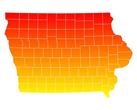 orange county: Map of Iowa