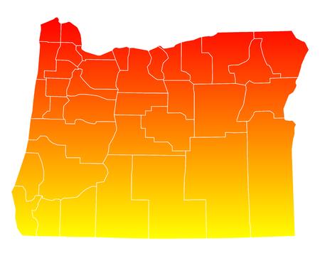 orange county: Map of Oregon Illustration