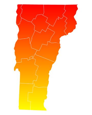 orange county: Map of Vermont