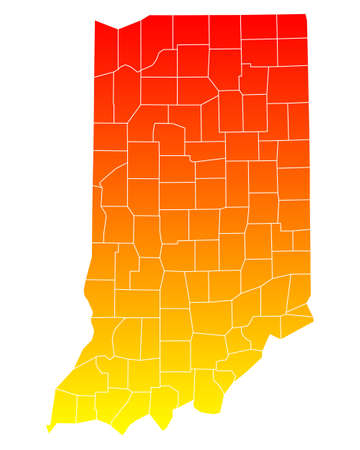 orange county: Map of Indiana