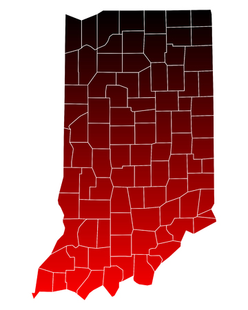 counties: Map of Indiana