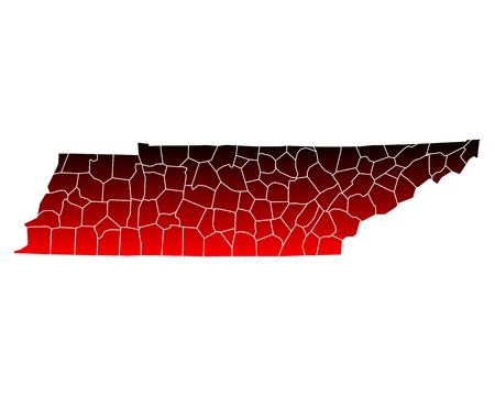 tennesse: Mapa de Tennessee