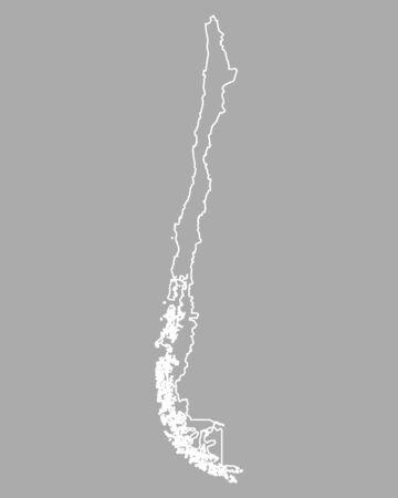 チリの地図 写真素材 - 66632565