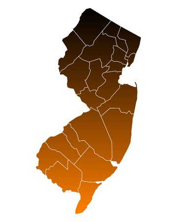 jersey: Map of New Jersey