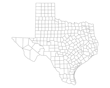 Map of Texas Illustration