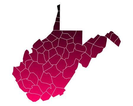 virginia: Map of West Virginia.