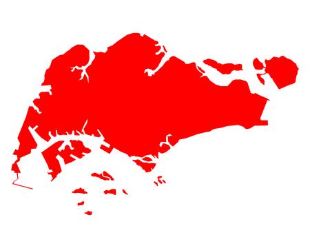 Map of Singapore 版權商用圖片 - 75990366
