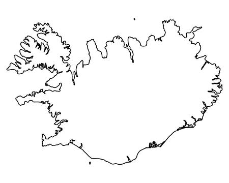 Kaart van IJsland Vector Illustratie