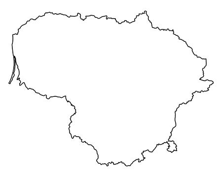 Mapa de Lituania Ilustración de vector