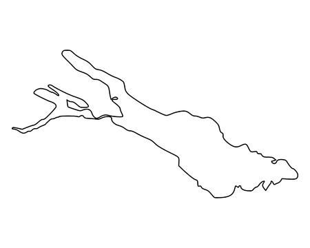 Mappa del Lago di Costanza