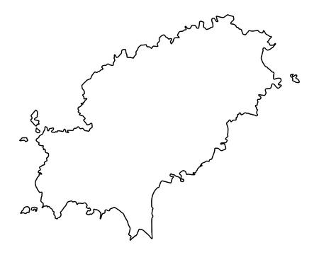 Map of Ibiza Illustration