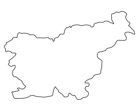 Carte de slovénie Banque d'images - 76370987