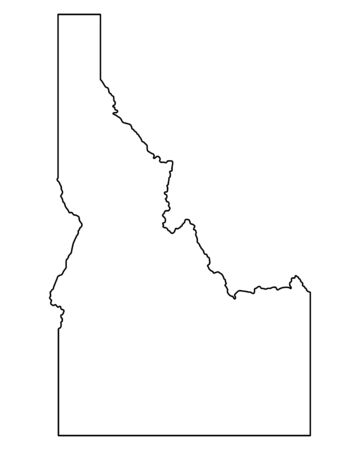Map of Idaho Illustration