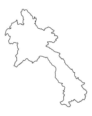 Map of Laos Illustration