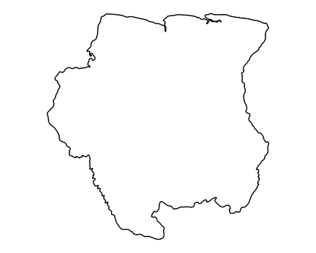 Suriname: Map of Suriname