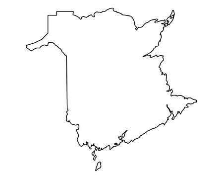 Kaart van New Brunswick Vector Illustratie