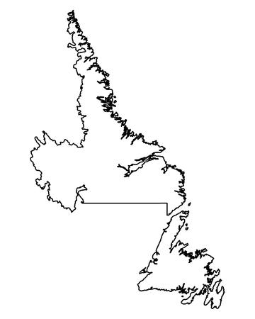 Map of Newfoundland and Labrador