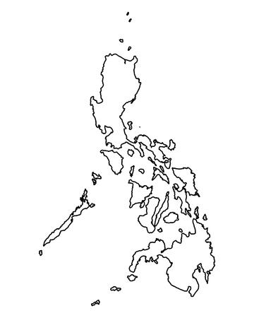 Kaart van de Filipijnen Stock Illustratie