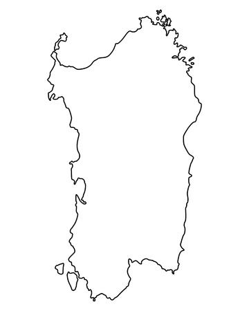 Map of Sardinia 向量圖像