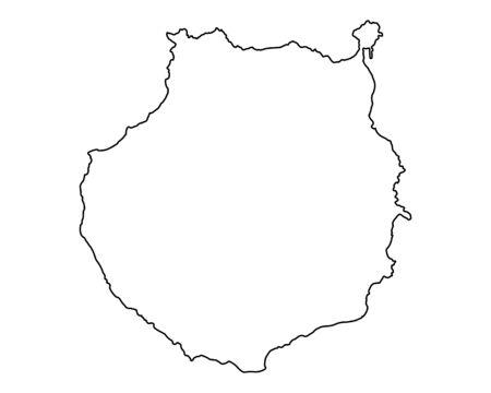 Map of Gran Canaria Illustration