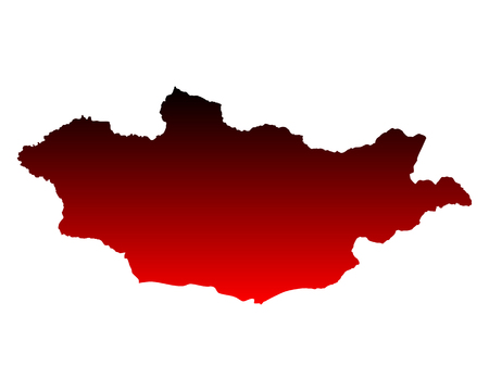 Kaart van Mongolië